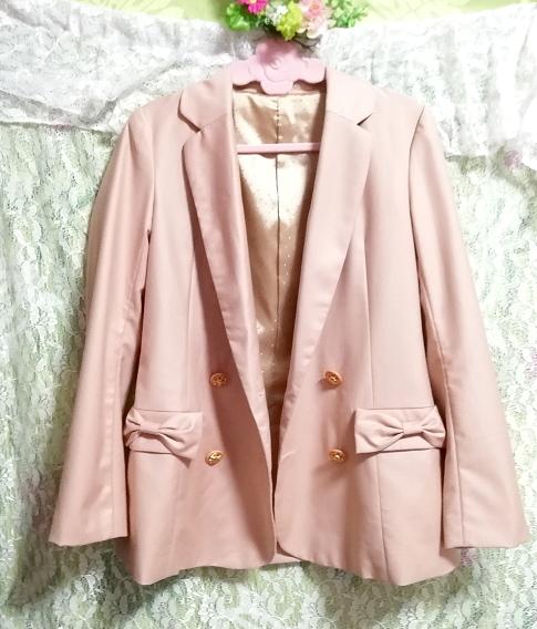 ピンクベージュジャケットコート羽織カーディガン Pink beige jacket coat haori cardigan_画像4