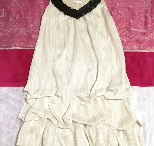 亜麻色ノースリーブチュニックドレス Flax color sleeveless tunic dress_画像2
