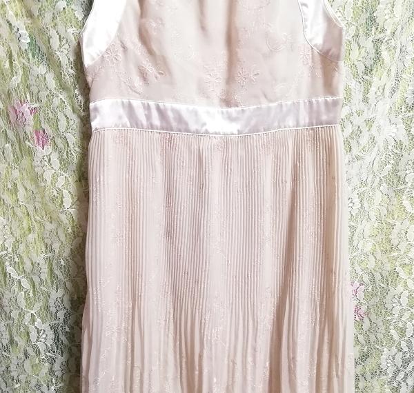 Pavot cing アイボリーホワイトサテンリボンノースリーブワンピースドレス Ivory white satin ribbon sleeveless onepiece dress_画像6