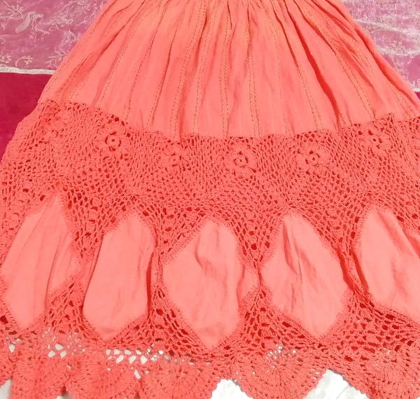 インド製赤ピンク綿コットン100%キャミソールワンピース Made in India red pink cotton 100% camisole onepiece_画像3