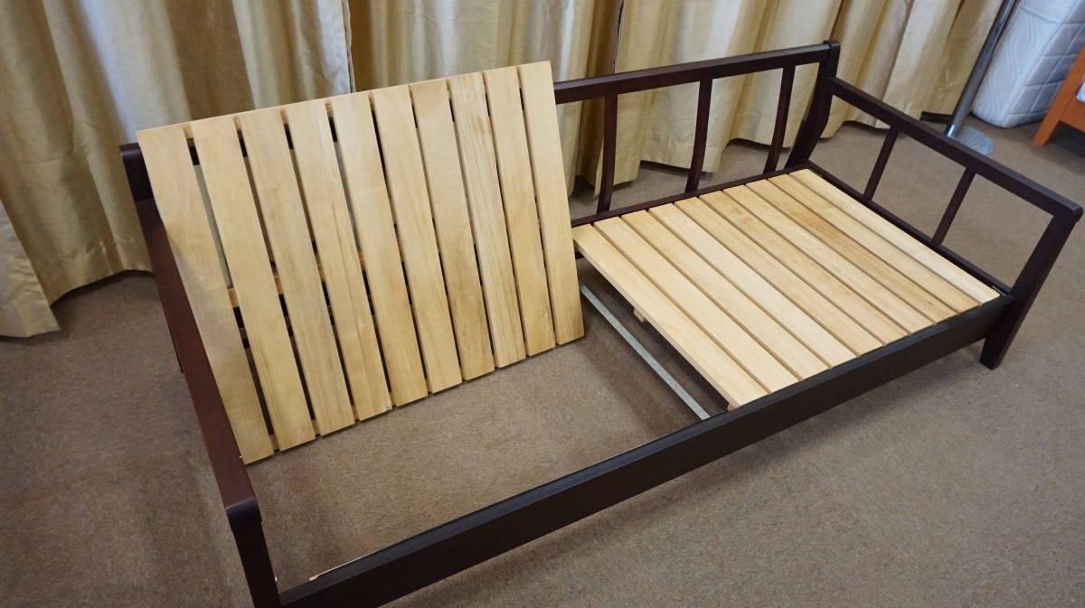 最終出品!展示用★木製 おしゃれなベッド ★ SSサイズ ★ 一人暮らしにも・ソファーとしてもGood!スノコベッド☆ センベラ アウトレット_画像6