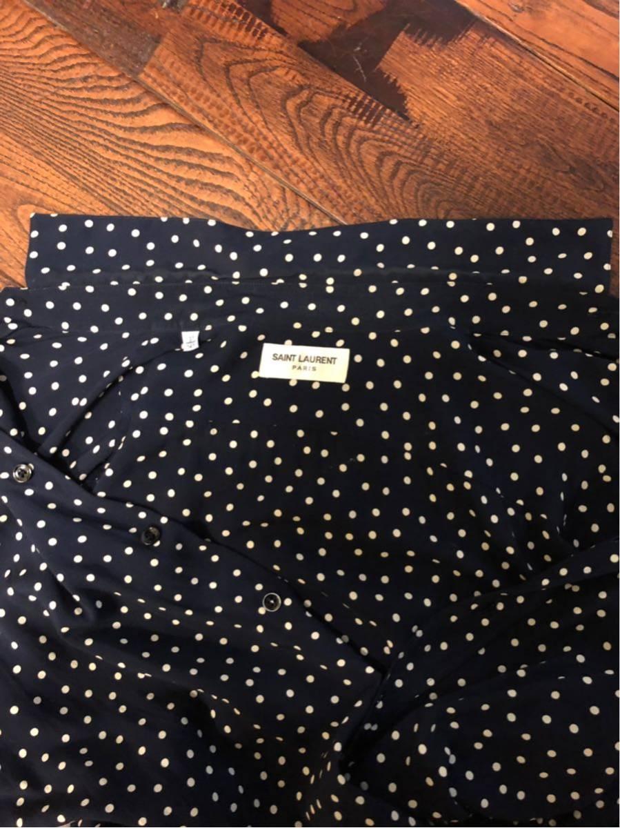 美品 saint laurent paris ドットシャツ 正規 本物_画像6
