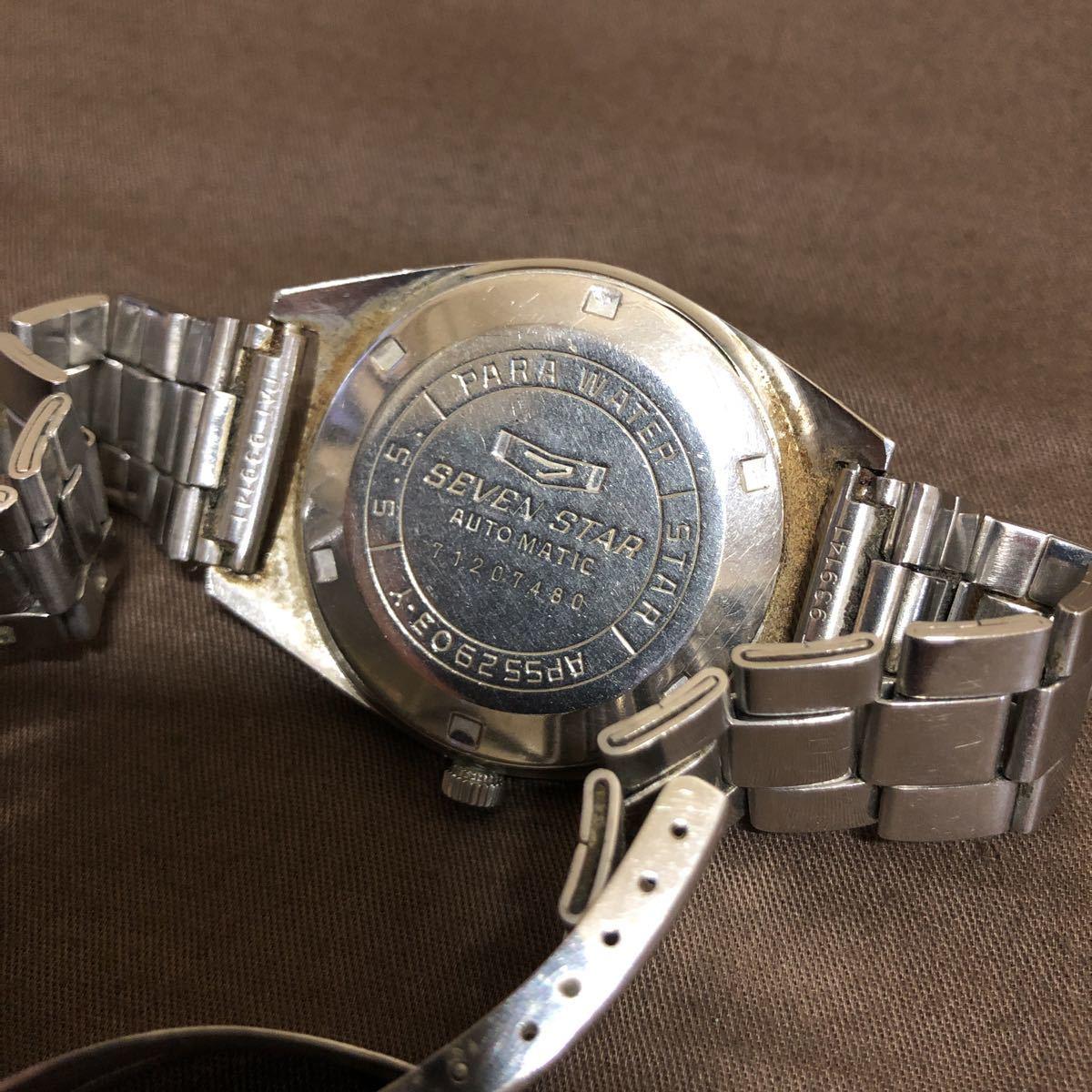 希少 レトロ 1970年代 CITIZEN SevenStars セブンスター 7 PARA WATER AUTOMATIC 21石 自動巻き メンズ腕時計 AP552903.Y 稼働品 ジャンク_画像7