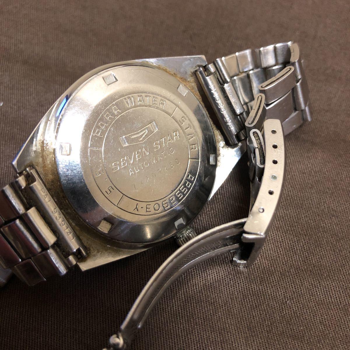 希少 レトロ 1970年代 CITIZEN SevenStars セブンスター 7 PARA WATER AUTOMATIC 21石 自動巻き メンズ腕時計 AP552903.Y 稼働品 ジャンク_画像6