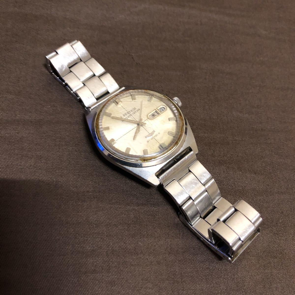 希少 レトロ 1970年代 CITIZEN SevenStars セブンスター 7 PARA WATER AUTOMATIC 21石 自動巻き メンズ腕時計 AP552903.Y 稼働品 ジャンク_画像3