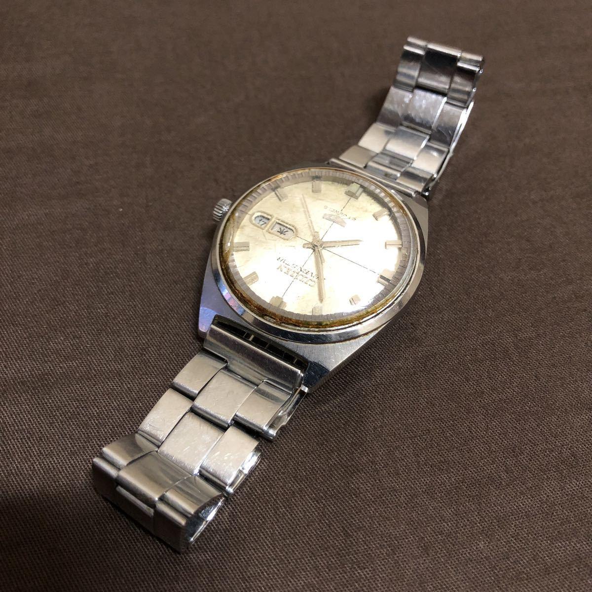 希少 レトロ 1970年代 CITIZEN SevenStars セブンスター 7 PARA WATER AUTOMATIC 21石 自動巻き メンズ腕時計 AP552903.Y 稼働品 ジャンク_画像4