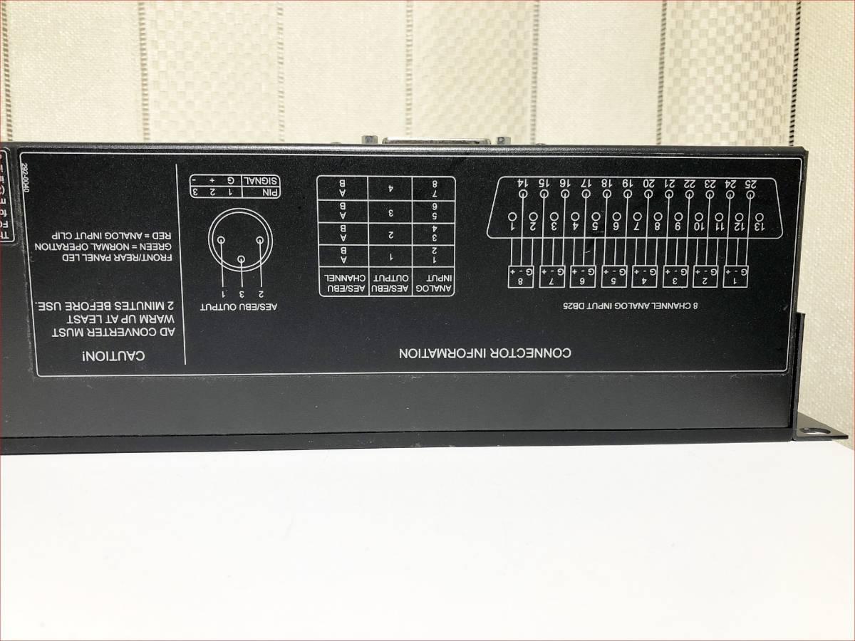 GENELEC AD9200A 正常動作品 (192kHz/24bit)×8ch ADコンバーター AES出力_画像8