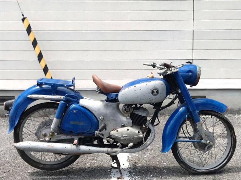 YAMAGUCHI ヤマグチモーター SS310 ? 125cc 走行距離30278km 山口自転車 レストアベース 部品取り 現状 ⑦-17_画像1