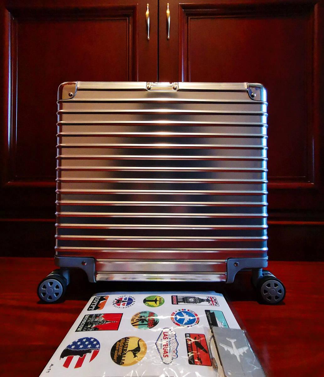 最高品質※EU基準・定価10万円※オールアルミマグネシウム合金製・軽量/静音・TSAロック搭載スーツケース※機内持ち込可 /限定ステッカー付_画像2