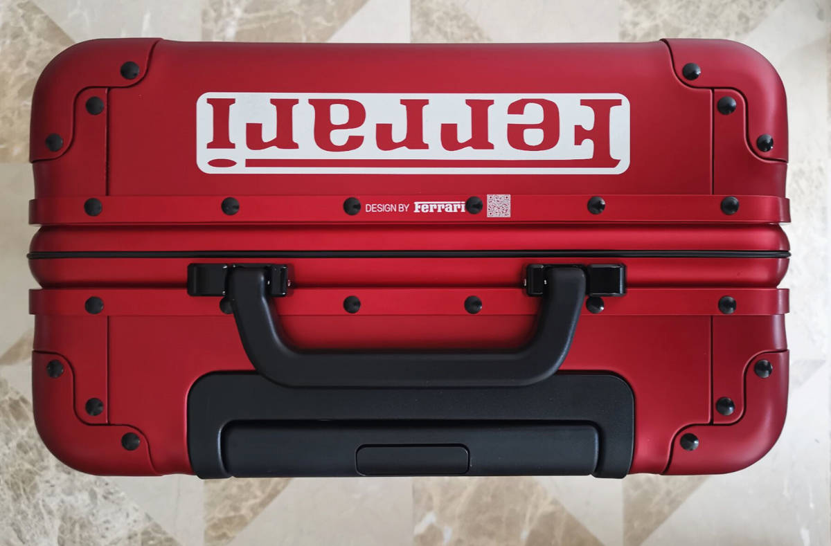 最高峰※貴重品※フェラーリ/Ferrari・オールアルミ・マグネシウム合金・スーツケース/キャリーケース・フェラーリF1チーム用装備_画像4