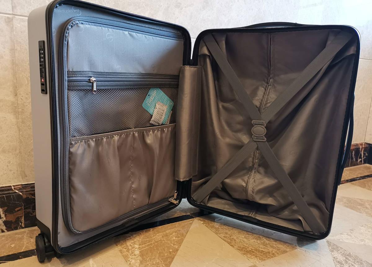正規品※最上級・定価12万※メルセデス・ベンツ/Mercedes-me ・公式・オリジナル・スーツケース・キャリーケース・銀_画像10