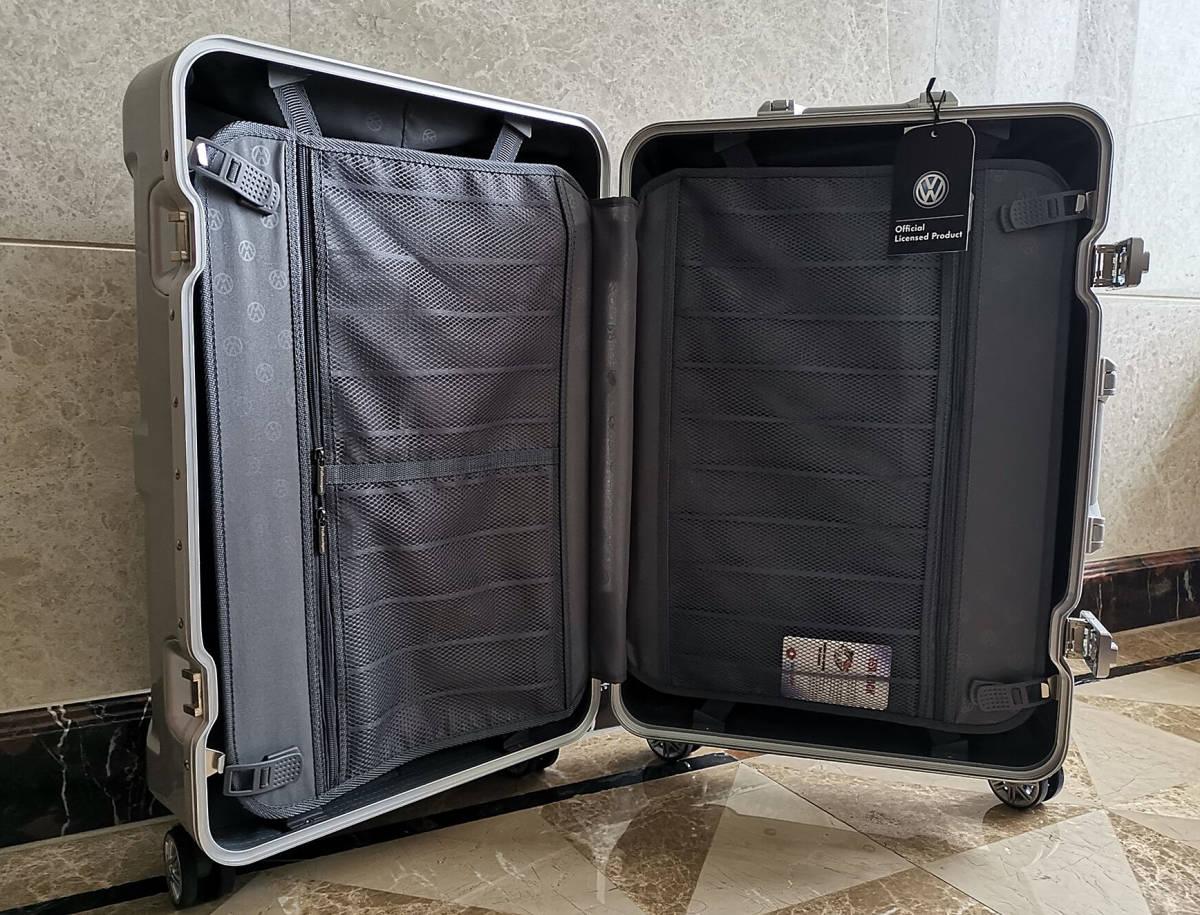 最高級※フォルクスワーゲン/Volkswagen アルミフレーム・軽量/静音・オリジナル・スーツケース・キャリーケース/60L_画像9