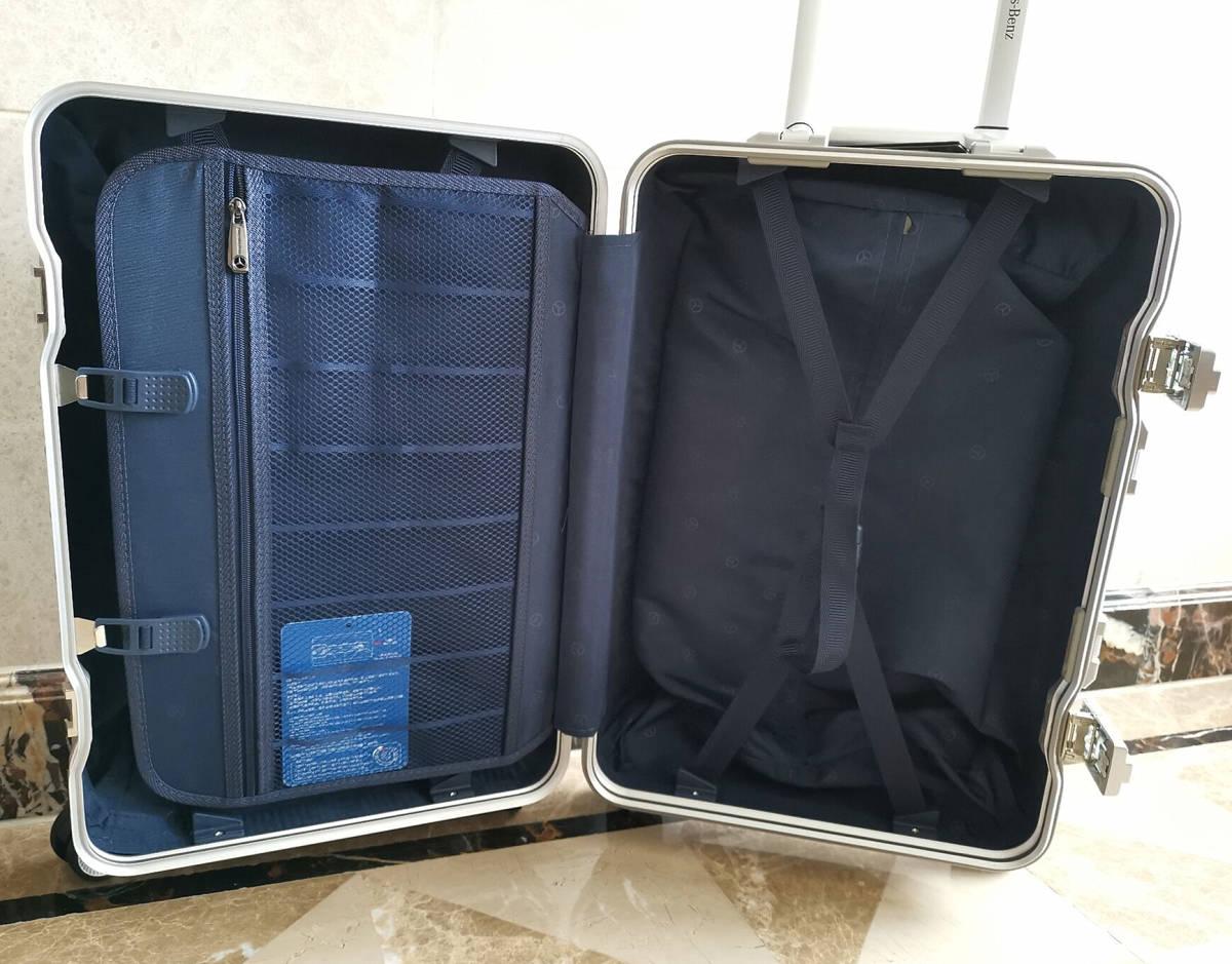 最高級※定価12万※メルセデス・ベンツ/Mercedes-Benz アルミフレーム・軽量/静音・オリジナル・スーツケース・キャリーケース・銀_画像9