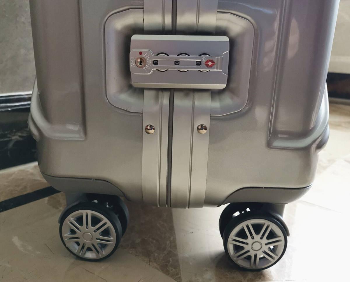最高級※フォルクスワーゲン/Volkswagen アルミフレーム・軽量/静音・オリジナル・スーツケース・キャリーケース/60L_画像6