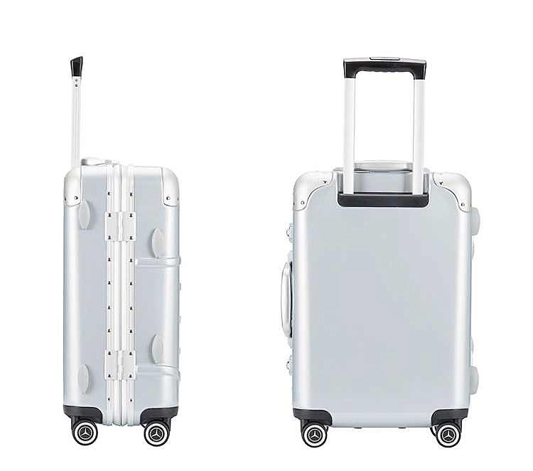最高級※定価12万※メルセデス・ベンツ/Mercedes-Benz アルミフレーム・軽量/静音・オリジナル・スーツケース・キャリーケース・銀_画像8