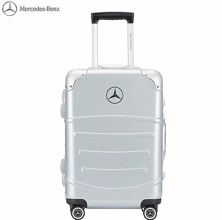 最高級※定価12万※メルセデス・ベンツ/Mercedes-Benz アルミフレーム・軽量/静音・オリジナル・スーツケース・キャリーケース・銀