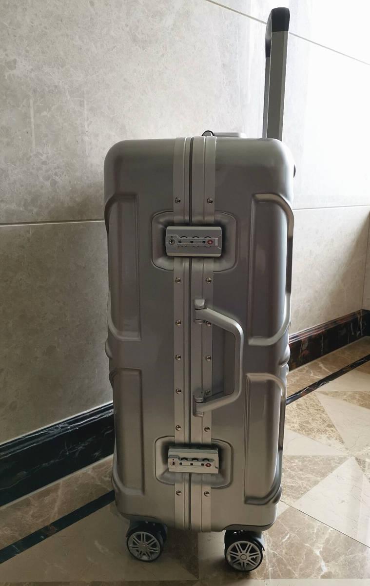 最高級※フォルクスワーゲン/Volkswagen アルミフレーム・軽量/静音・オリジナル・スーツケース・キャリーケース/60L_画像4