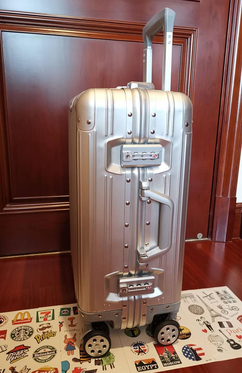 高品質※EU基準※純正アルミマグネシウム合金製・軽量/静音・TSAロック搭載スーツケース・キャリーケース※限定ステッカー付5枚付_画像4