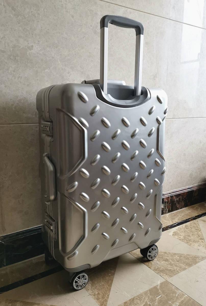 最高級※フォルクスワーゲン/Volkswagen アルミフレーム・軽量/静音・オリジナル・スーツケース・キャリーケース/60L_画像8
