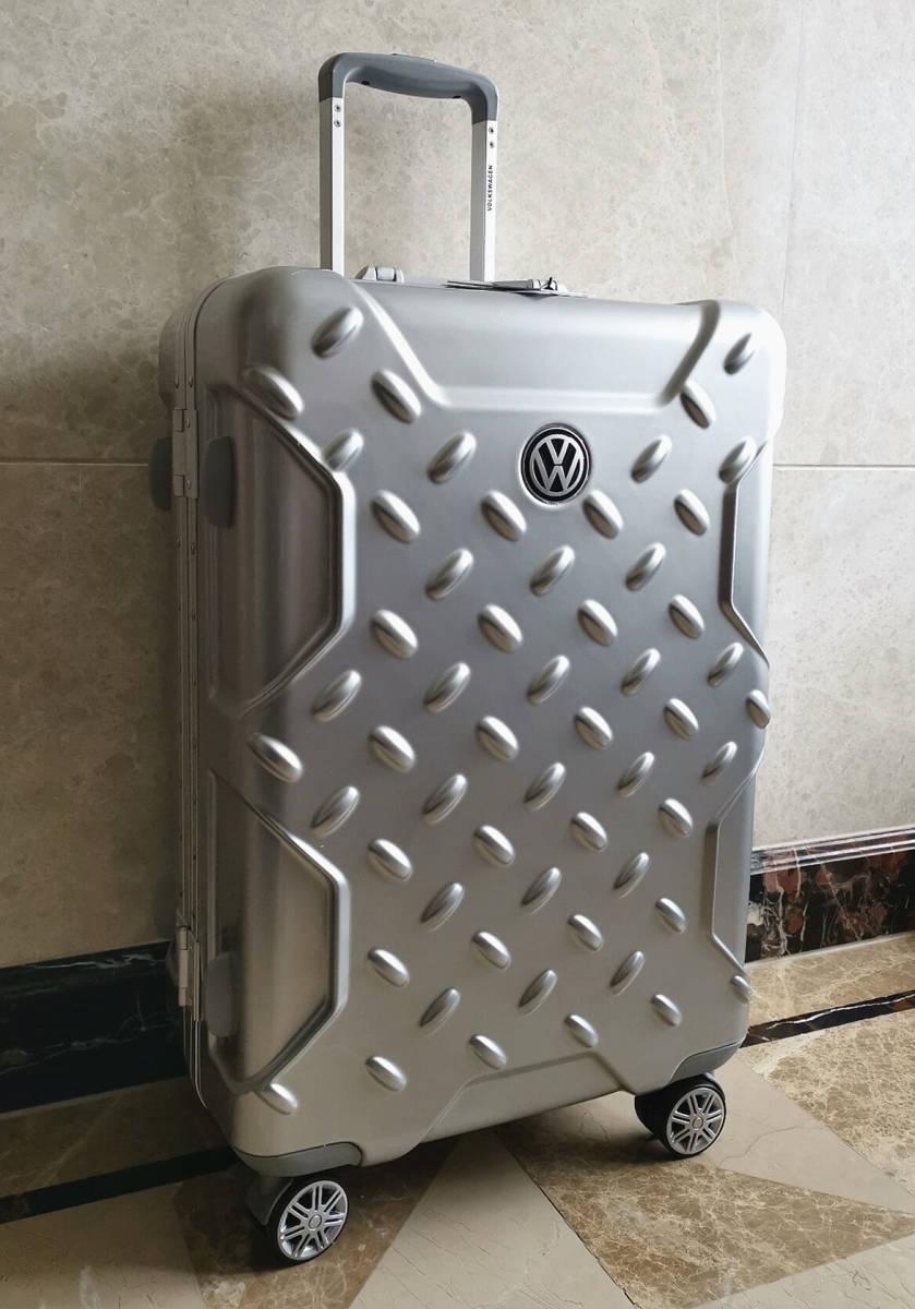 最高級※フォルクスワーゲン/Volkswagen アルミフレーム・軽量/静音・オリジナル・スーツケース・キャリーケース/60L_画像3