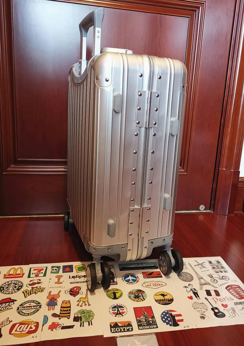 高品質※EU基準※純正アルミマグネシウム合金製・軽量/静音・TSAロック搭載スーツケース・キャリーケース※限定ステッカー付5枚付_画像7