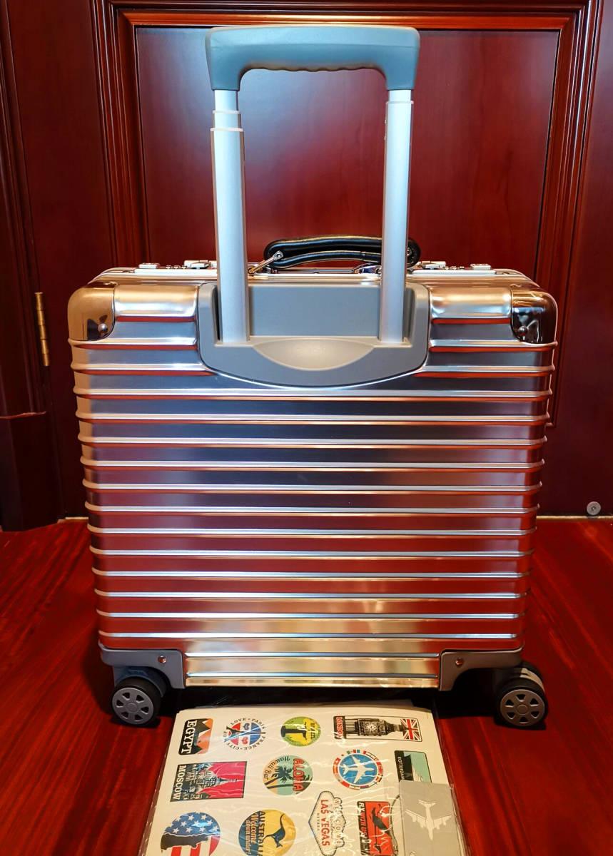 最高品質※EU基準・定価10万円※オールアルミマグネシウム合金製・軽量/静音・TSAロック搭載スーツケース※機内持ち込可 /限定ステッカー付_画像4