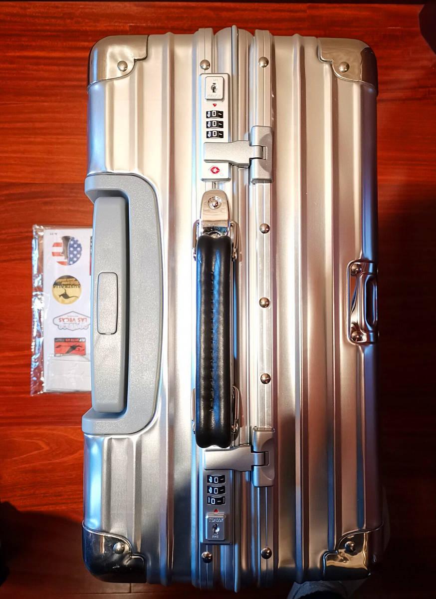 最高品質※EU基準・定価10万円※オールアルミマグネシウム合金製・軽量/静音・TSAロック搭載スーツケース※機内持ち込可 /限定ステッカー付_画像7