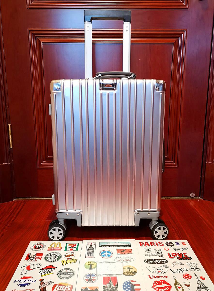 最上級※EU基準※オールアルミマグネシウム合金製・軽量/静音・TSAロック搭載スーツケース・キャリーケース※限定ステッカー5枚付_画像9