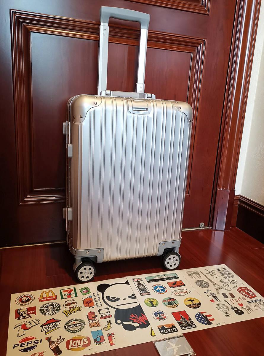 高品質※EU基準※純正アルミマグネシウム合金製・軽量/静音・TSAロック搭載スーツケース・キャリーケース※限定ステッカー付5枚付