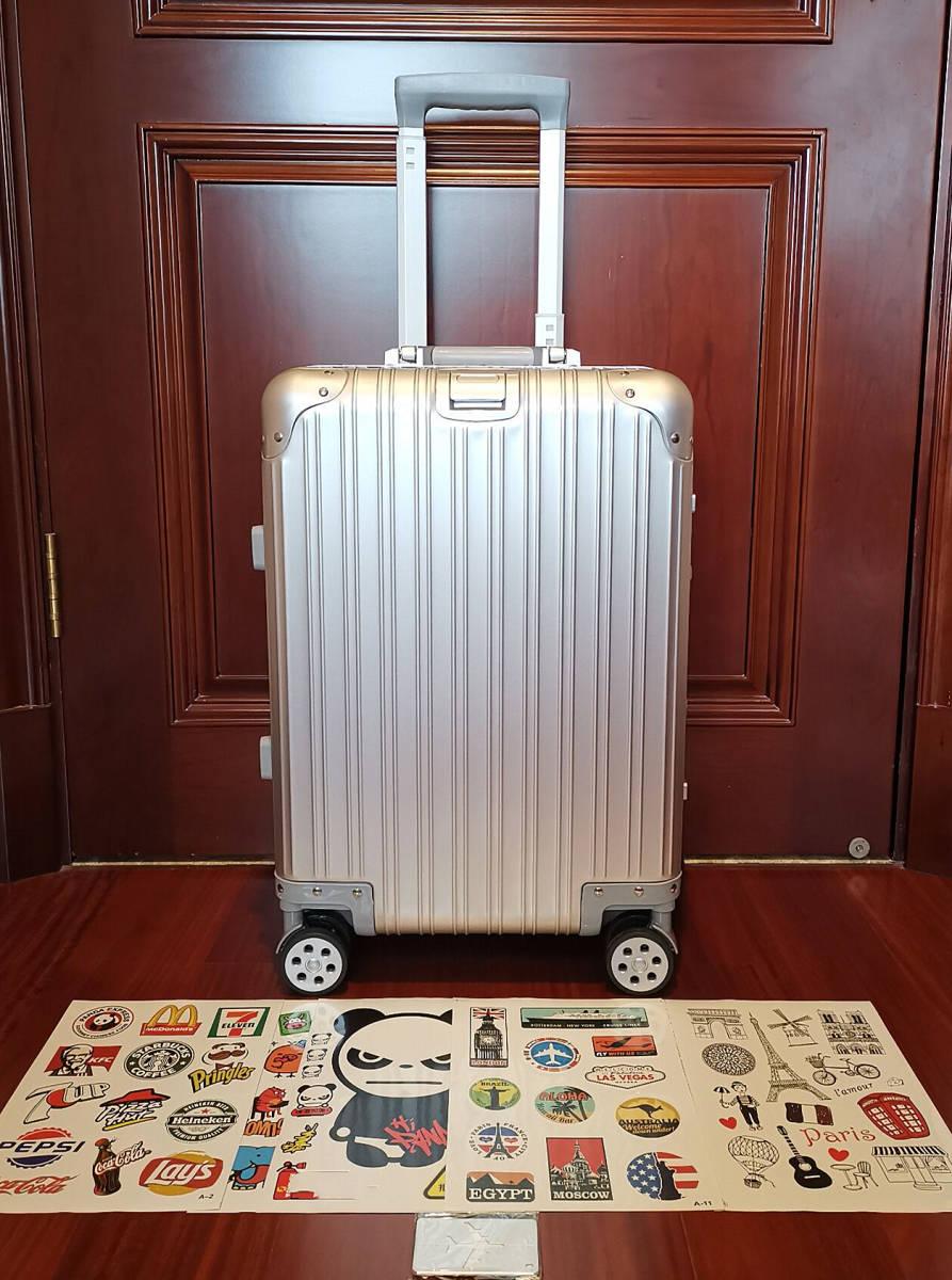 高品質※EU基準※純正アルミマグネシウム合金製・軽量/静音・TSAロック搭載スーツケース・キャリーケース※限定ステッカー付5枚付_画像2