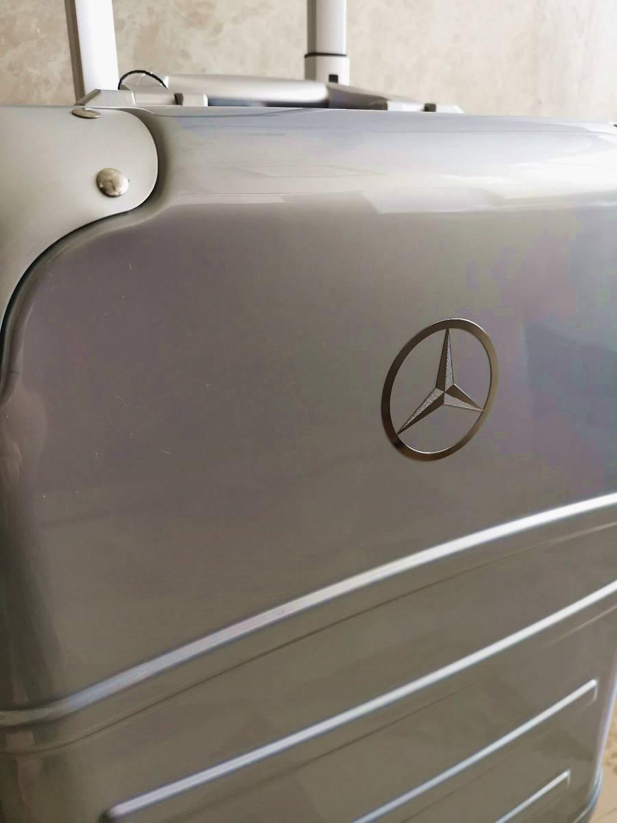 最高級※定価12万※メルセデス・ベンツ/Mercedes-Benz アルミフレーム・軽量/静音・オリジナル・スーツケース・キャリーケース・銀_画像6