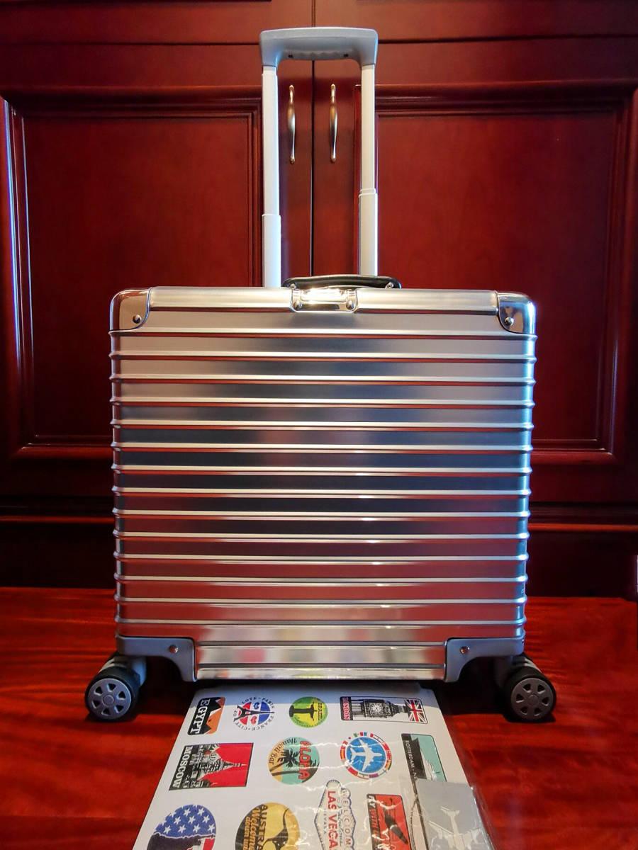 最高品質※EU基準・定価10万円※オールアルミマグネシウム合金製・軽量/静音・TSAロック搭載スーツケース※機内持ち込可 /限定ステッカー付