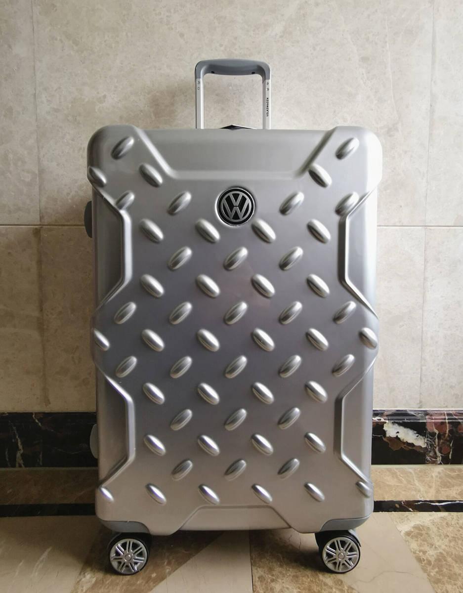 最高級※フォルクスワーゲン/Volkswagen アルミフレーム・軽量/静音・オリジナル・スーツケース・キャリーケース/60L_画像2