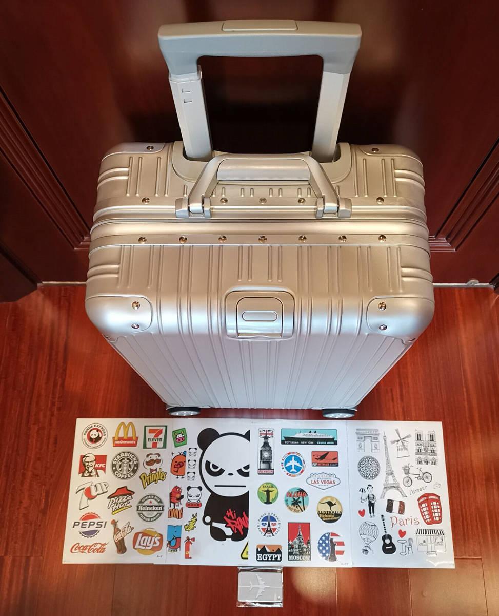 高品質※EU基準※純正アルミマグネシウム合金製・軽量/静音・TSAロック搭載スーツケース・キャリーケース※限定ステッカー付5枚付_画像5