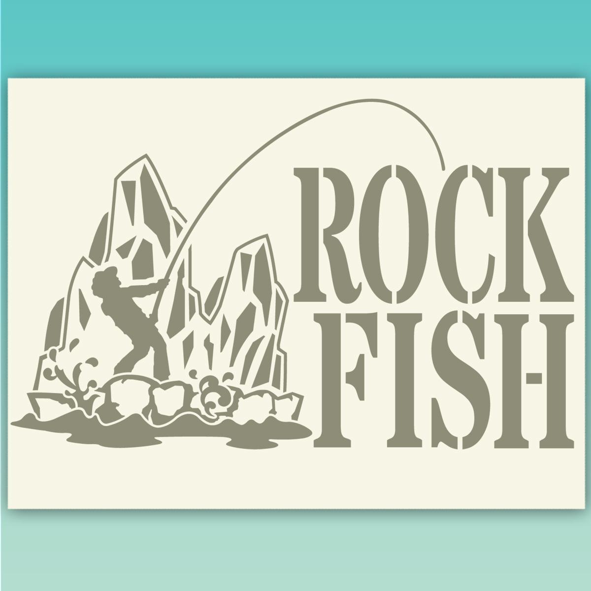 ROCKFISH ロックフィッシュ 釣り フィッシング カッティングステッカー  518_画像1