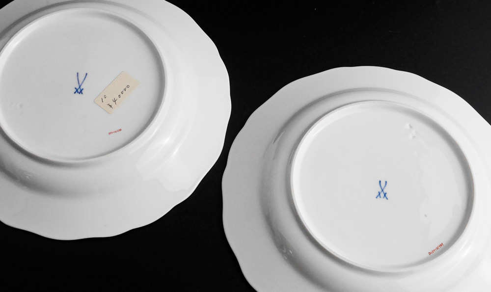 マイセン Meissen 皿(2枚セット)一輪の花画 dish flower_画像6