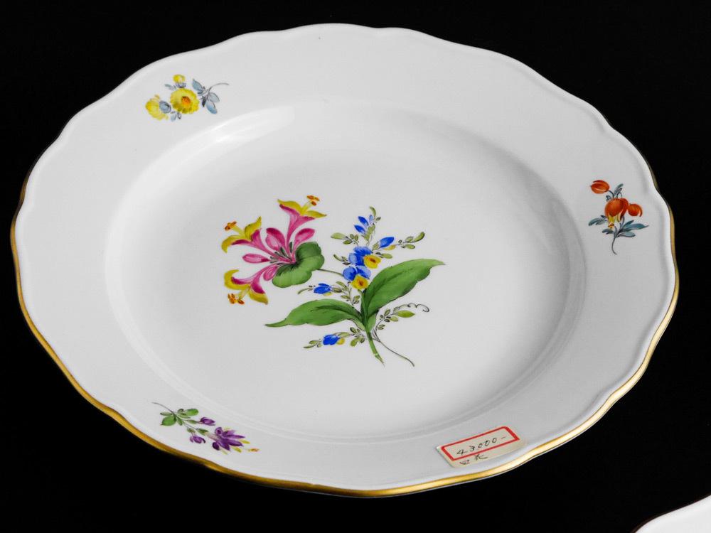 マイセン Meissen 皿(2枚セット)一輪の花画 dish flower_画像3