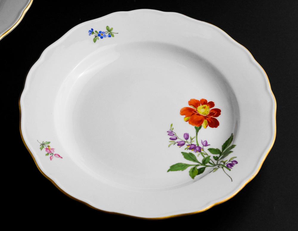 マイセン Meissen 皿(2枚セット)一輪の花画 dish flower_画像2