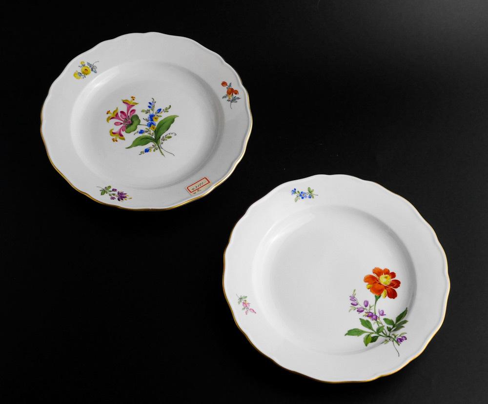 マイセン Meissen 皿(2枚セット)一輪の花画 dish flower
