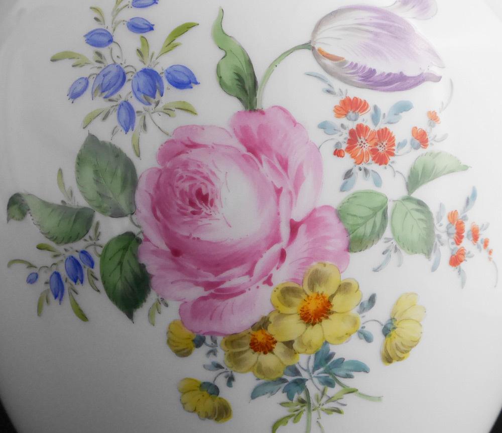 マイセン Meissen フラワーベース 花瓶 ローズ ブーケ flower bouquet rose _画像7