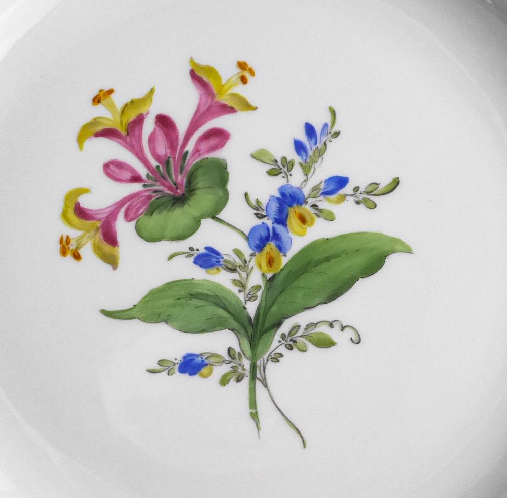 マイセン Meissen 皿(2枚セット)一輪の花画 dish flower_画像5