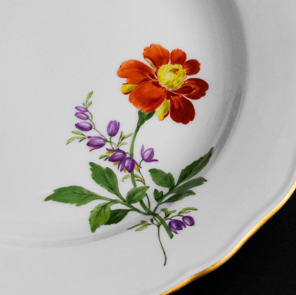 マイセン Meissen 皿(2枚セット)一輪の花画 dish flower_画像4