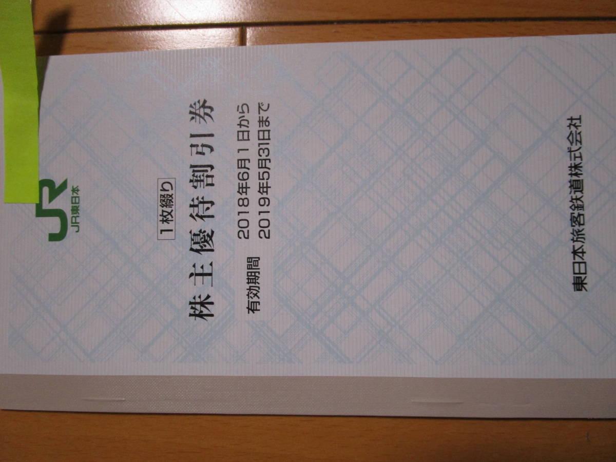 JR東日本 株主優待券1枚+サービス券1枚 【普通郵便のみ送料無料】_画像2