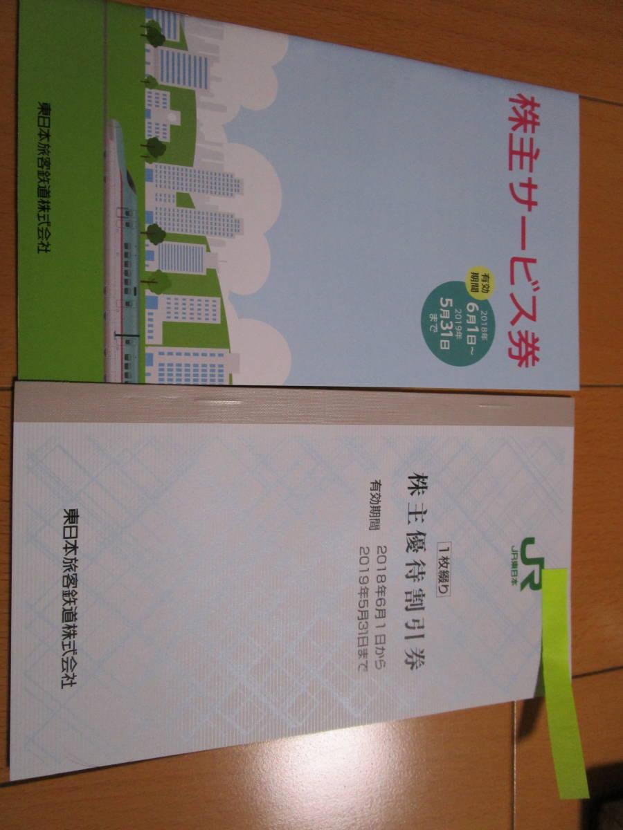 JR東日本 株主優待券1枚+サービス券1枚 【普通郵便のみ送料無料】