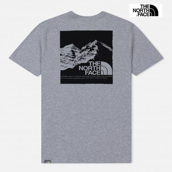 1円~新品正規品☆The North Face T-shirt☆ノースフェイスTシャツ☆The North Face M SS Mountain Exp Tee☆TNFライトグレー☆XLサイズ