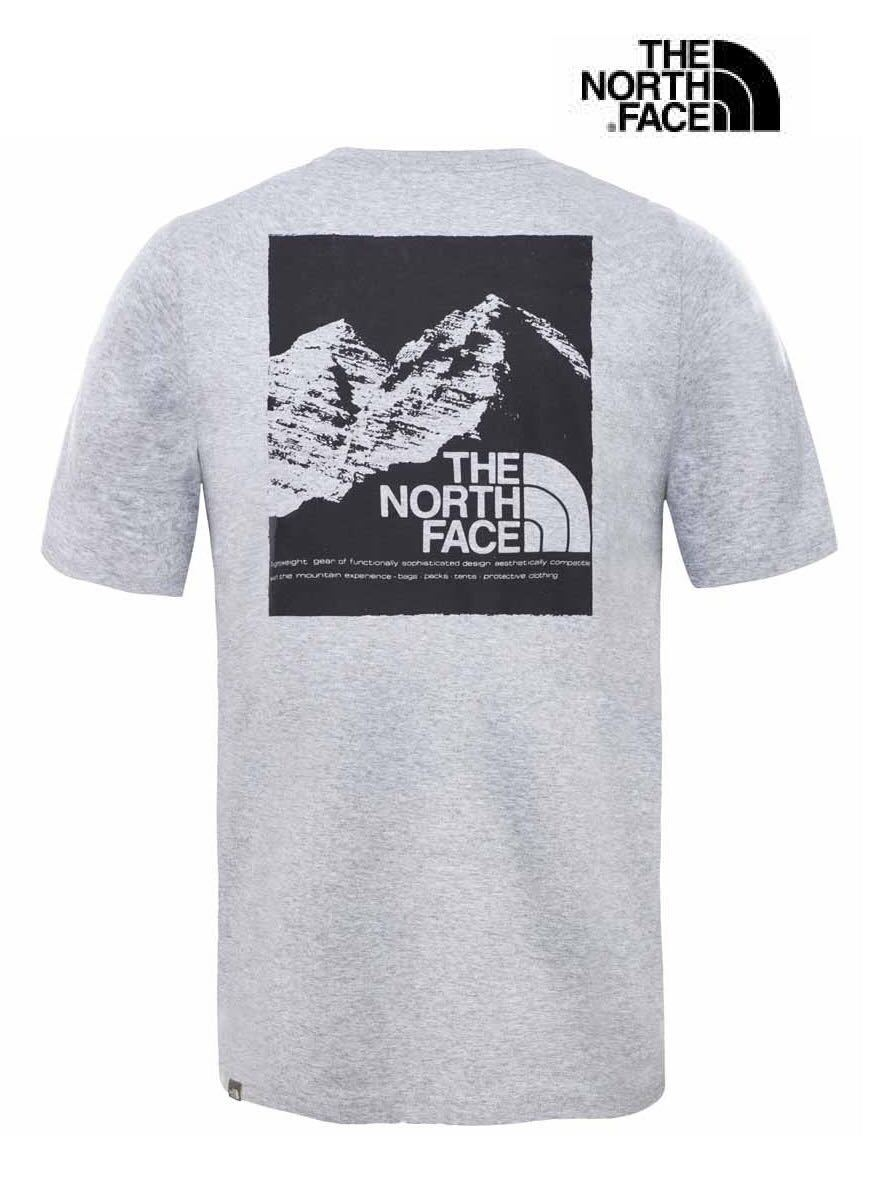 1円~新品正規品☆The North Face T-shirt☆ノースフェイスTシャツ☆The North Face M SS Mountain Exp Tee☆TNFライトグレー☆XLサイズ_画像3