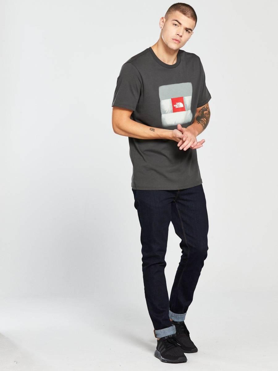 1円~新品正規品☆The North Face T-shirt☆ノースフェイスTシャツ☆The North Face Reissue S/S☆Asphalt Grey☆Mサイズ_画像6