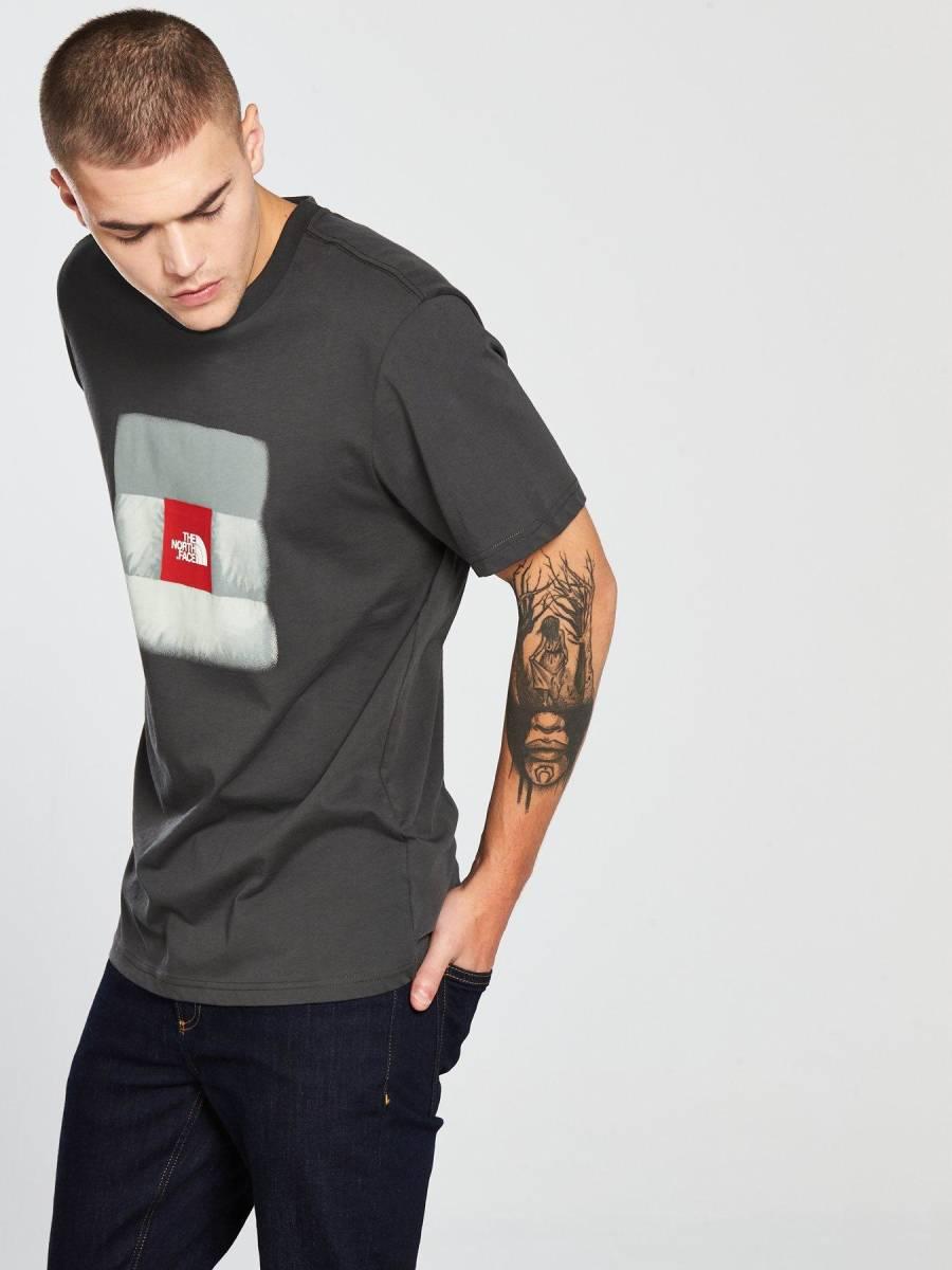 1円~新品正規品☆The North Face T-shirt☆ノースフェイスTシャツ☆The North Face Reissue S/S☆Asphalt Grey☆Mサイズ_画像3