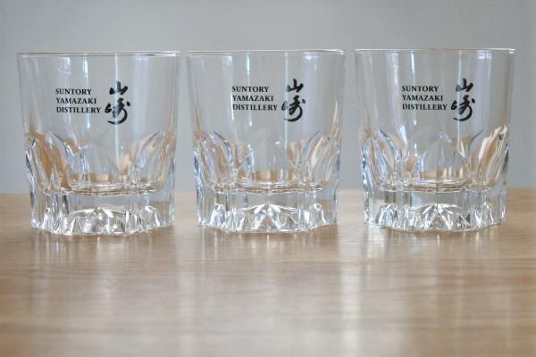 送料無料 サントリー 山崎 SUNTORY YAMAZAKI ロックグラス 3個 未使用品 グラス
