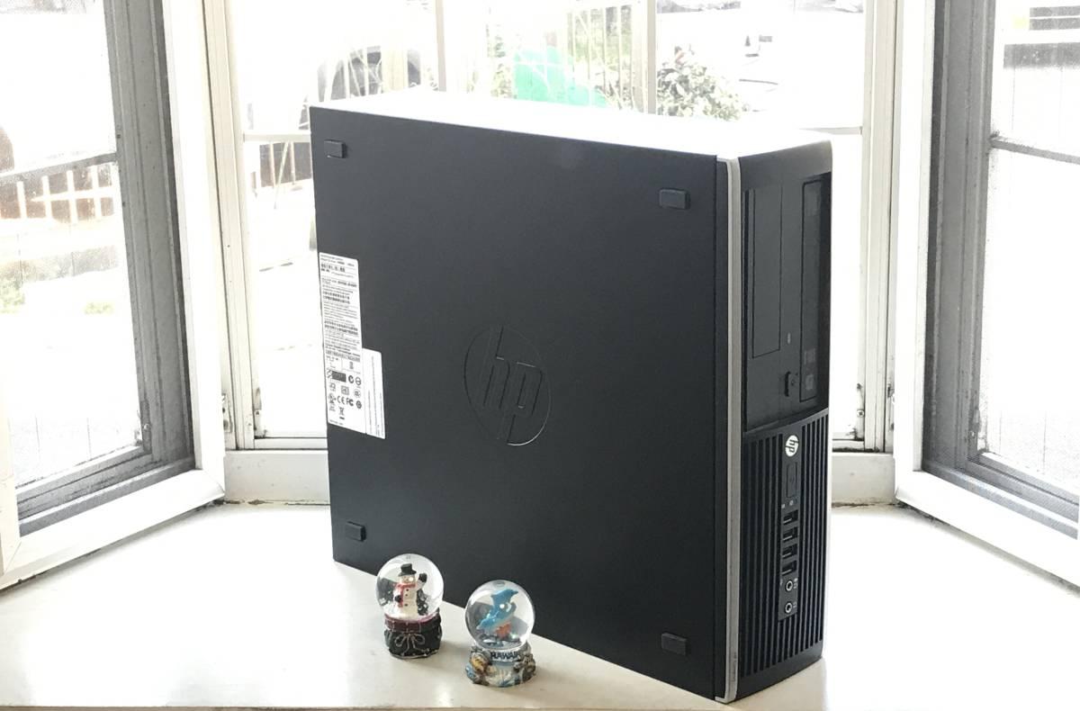 ★高速起動&高性能PC★ HP Compaq Elite 8200 SFF Core i3-2100/新品240GBSSD+大容量500GBHDD/8GB/無線LAN/MS office2019/安心付属品q_画像2